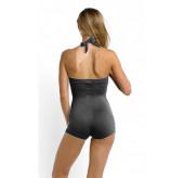 Boyleg Swimsuit-Granite