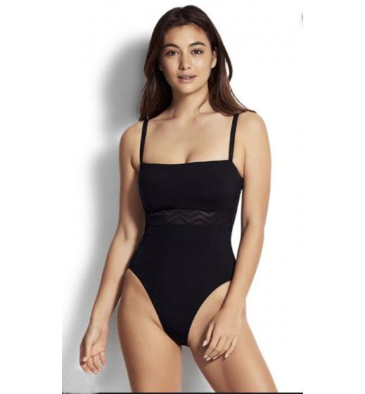 DD Zig Zag Mesh Swimsuit