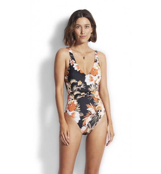 BoraBoraFlora V-Neck Swimsuit