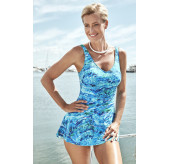 Skirted Swimsuit-Turq