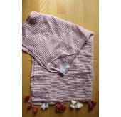 Linen Stripe Kaftan-Rust