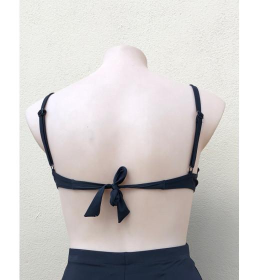 D/DD Pleated Bikini Top