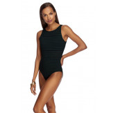 Parallels High Neck Swimsuit