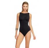 Overlay Mesh Swimsuit