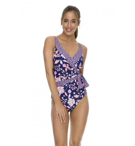 Costa Rica Gathered Tie Side Swimsuit