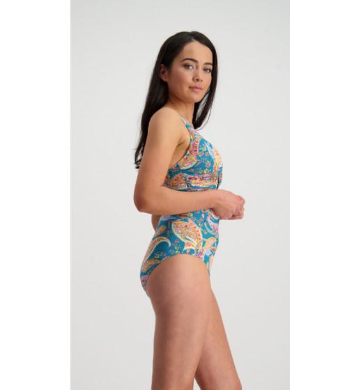 Hot Paisley DD/E Wrap Swimsuit