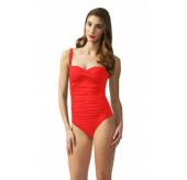 Twist Swimsuit-Red
