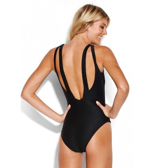 High Neck Swimsuit-Blk