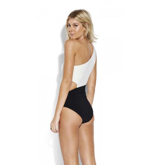 PopBlock One Shoulder Swimsuit