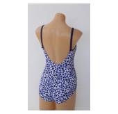 Double Strap Swimsuit-blue