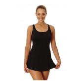 Black Swing Skirt Swimsuit