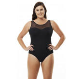 Mesh Neck Swimsuit
