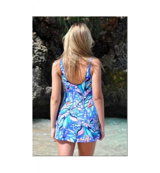 Full Skirted Swimsuit-MA