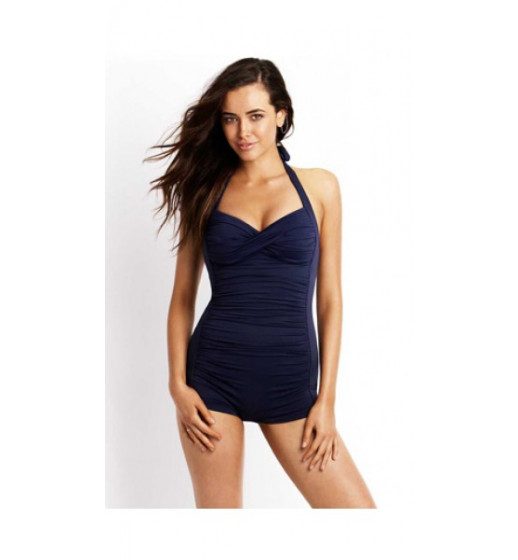 Seafolly Boyleg Swimsuit- Navy