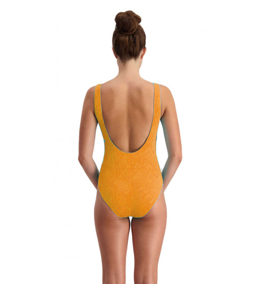 Lacing swimsuit-Orange