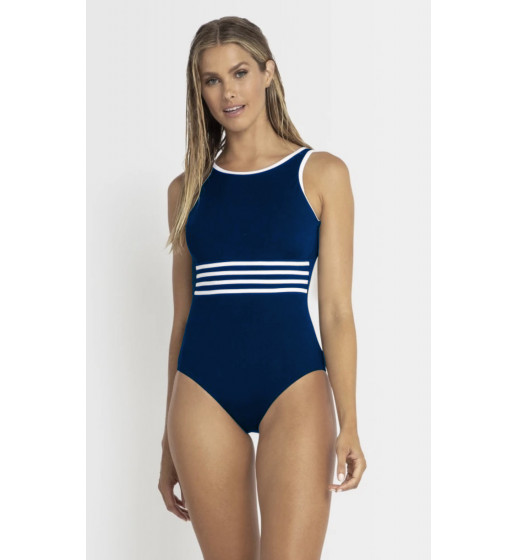 Pool Highneck Navy Swiimsuit