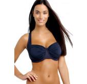 DD Balconette Bikini Top-Navy