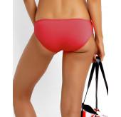Pleated Bikini Hipster-Chilli Red