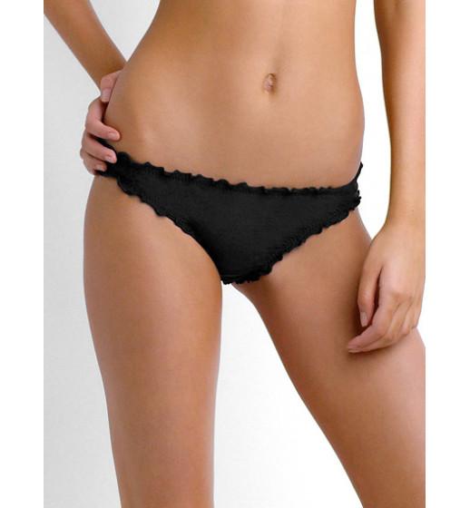 Shimmer Mini Bikini Hipster- Black