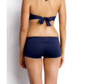 Roll Top Bikini Boyleg -Navy