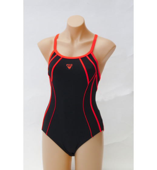 Taped Scuba Tri Back Swimsuit