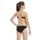 Geo Cross Back Crop Bikini Set