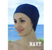 Retro Swim cap -Navy